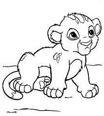 Cute Little Simba Coloring Page Download Print Online Coloring