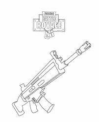 Fortnite Rifle Scar Coloring Page Fortnite Party In 2019