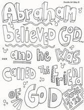 Small Picture Abraham Coloring Pages Religious Doodles