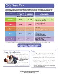 Lactation Diet Chart Breastfeeding Moms Daily Meal Plan See Link