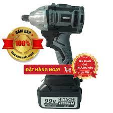 NHẬP KHẨU] Máy siết bulong dùng pin không chổi than Hitachi 99v PIN khủng  10 Cell - Tặng kèm 1 đầu chuyển bắt vít [CAM giá cạnh tranh