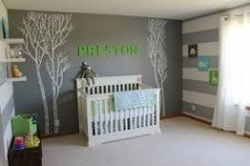 gray nursery furniture. gray with striped walls white furniture nursery y