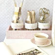 shabby chic office accessories. Shabby Chic Desk Part 2 Desktop Storage With Mason Jars Office . Accessories