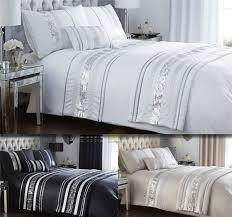 modern sequin quilt duvet cover 2 pillowcase bedding bed