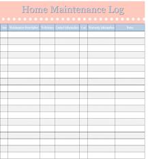 Home Maintenance Log Template Home Management Binder Free