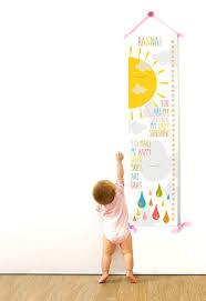 Growth Chart Girls Nursery Decor Custom Canvas Growth
