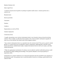 Termination Of Cleaning Services Letter Termination Of Cleaning Services Letter Under Fontanacountryinn Com