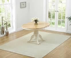 round oak dining table 100cm. mark harris elstree oak and cream 100cm round extending dining table