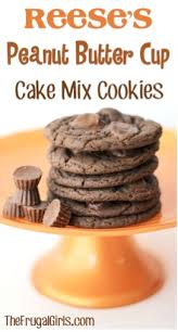 reeses peanut er cup cake mix cookies