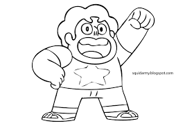 Small Picture Steven Universe coloring pages Squid Army