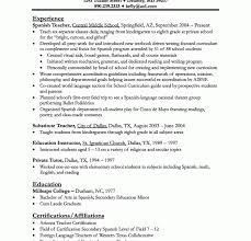 Best Teacher Resume Example Livecareer Resumes Examples For Teachers ...