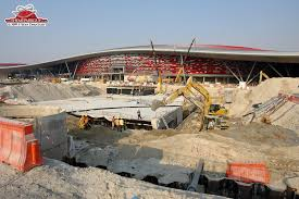The construction started in 2008 and was finished in november 2010. Ferrari World Photos By The Theme Park Guy
