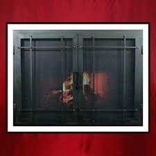 small fireplace doors custom fireplace screen door ascot small glass fireplace doors