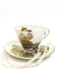 Decorating With Teacups And Saucers Shelley Tea Cup and Saucer Heath Pattern Cambridge Cup Rural 20