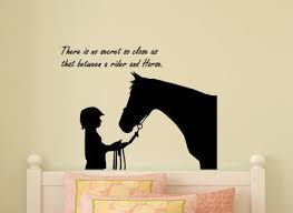 zoom on horse wall decor stickers with horse decal wall quote sticker wall words horse and rider