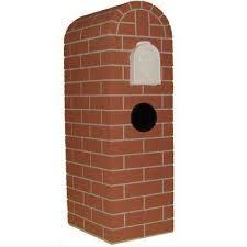 brick mailbox flag. Unique Brick Chicago Brick Round Red Tones Post Mount Mail Column On Mailbox Flag