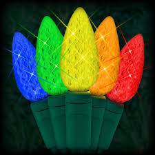 led multi color christmas lights 50 c6 led strawberry style bulbs 6 ing 23ft green wire 120vac