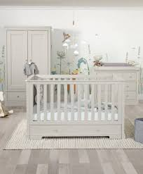 grey furniture nursery. Oxford Cot Bed Package With Wardrobe And Changer Top - Pebble Grey Pine Furniture Nursery