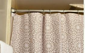 69 Tan And White Shower Curtain Designer Outlet Shower Curtain