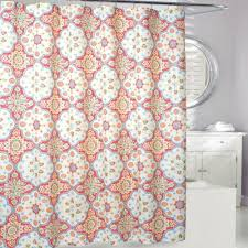 coral and brown shower curtain. tanya shower curtain in coral/yellow coral and brown l