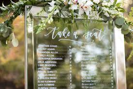 Calligraphy Wedding Seating Chart The Shaded Maple Modern Calligraphy Design