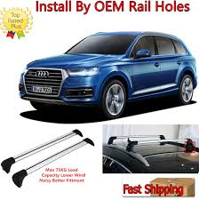 Top Roof Rack For 2006-2015 Audi Q7 OE Style Baggage Luggage Cross ...