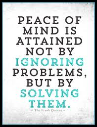 peace quotes peacekeeping images quotes sayings peace of mind is attained not by ignoring