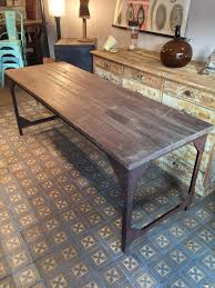 industrial wood furniture. Wood Metal Dining Table French Industrial For Sale At Pamono 17 Furniture E