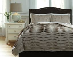 voltos brown pleated cotton duvet cover set available in queen and king