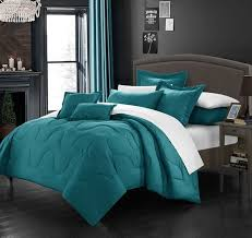 solid turquoise duvet cover