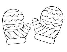 Small Picture Mitten Coloring Page Tl winter Pinterest Mittens Craft