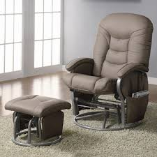 nursery glider chair leather