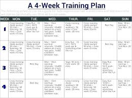 Exercise Program Templates Workout Training Schedule Template