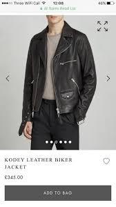 all saints kodey leather biker jacket