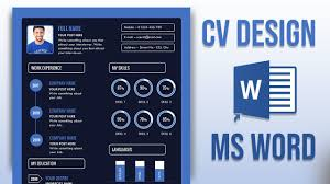 How To Make A Modern Resume In Word Create A Modern Resume Cv Word Ms Office