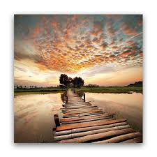sunset large canvas wrap b1937