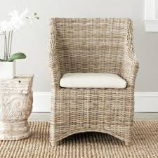 indoor rattan chairs. safavieh st thomas indoor wicker washed-out brown wing back arm rattan chairs n