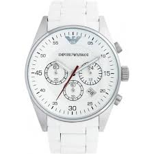 emporio armani mens white chronograph watch ar5859 cheapest armani watches mens white chronograph watch ar5859
