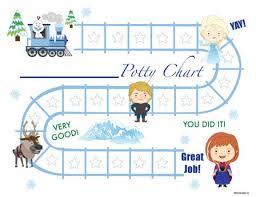 Train Chart Download Printable Snow Princess English Potty Training Chart Download