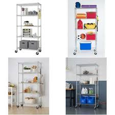 trinity ecostorage 5 tier nsf wire shelving rack with wheels 36 by 18 by