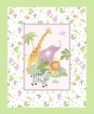 Cot Panels: Crafts | eBay & Safari Baby Cot Quilt Panel for Quilting Childrens/Babies Quilt Craft Panel Adamdwight.com