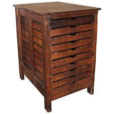 Storage Cabinet Wood Vintage Industrial Wood Hamilton Multi Drawer Printers Storage