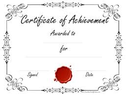 Printable Achievement Certificate Template Free Customizable ...
