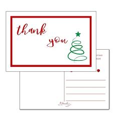 Amazon Com 25 4x6 Christmas Holiday Thank You Postcards Bulk Cute