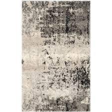 safavieh retro light grey grey 3 ft x 5 ft area rug