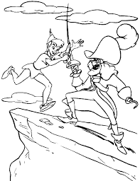 Small Picture Coloring Peter Pan is fighting Captain Hook picture