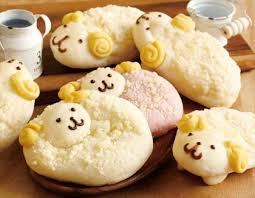 Sheep Shaped Baked Goods Year Of The Sheep