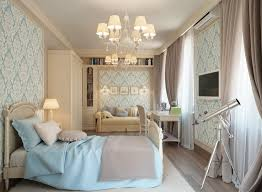 Home Blue Cream Traditional Bedroom Decoration