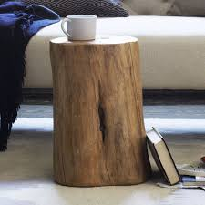 livingroom log end table good for tight spaces that need an or plant wood stump