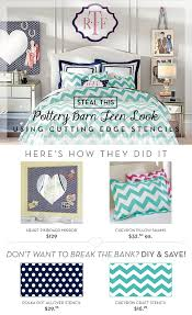 cutting edge stencils shares diy ideas to recreate pottery barn teen decor using stencils